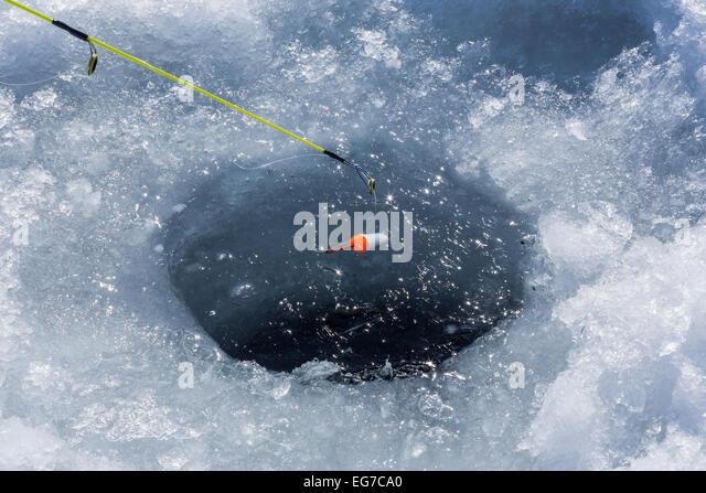 Panfish stock photos panfish stock images alamy for Ice fishing hole