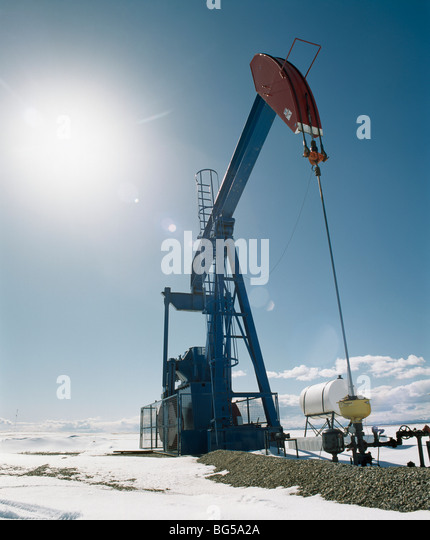 Pump Jack, Alberta, Canada - Stock Image