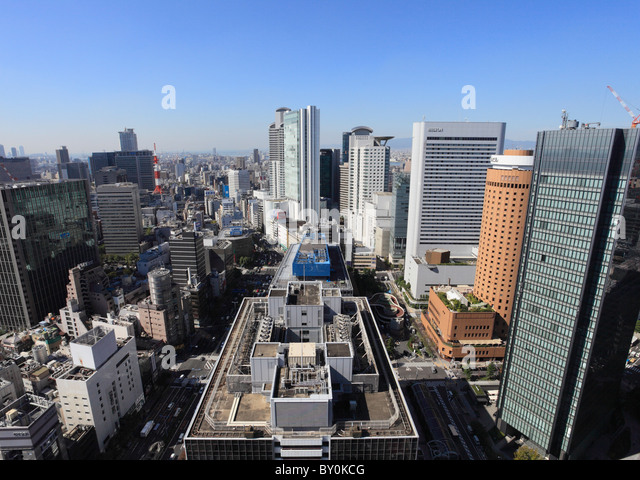 Cityscape of Umeda, Osaka, Osaka, Japan - Stock Image
