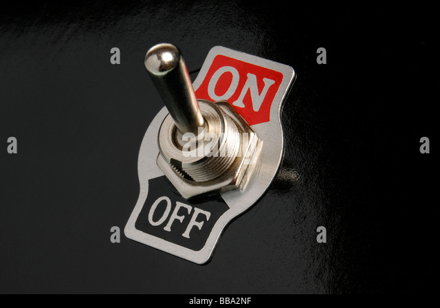 On/off switch - Stock Image