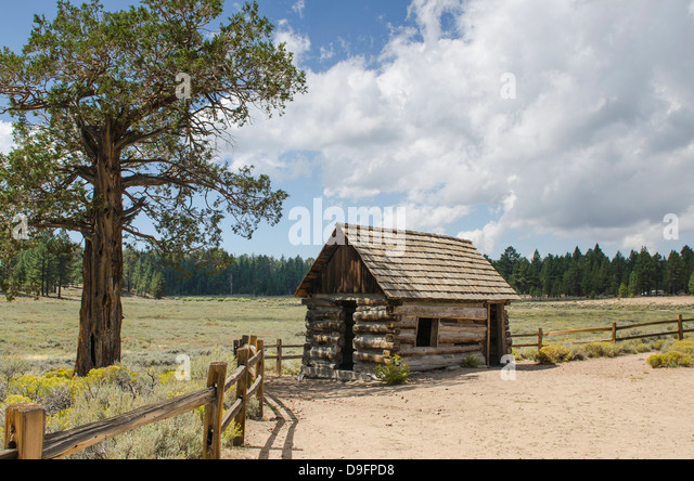Van Dusen Cabin Bellville, Big Bear Lake, California, USA - Stock Image