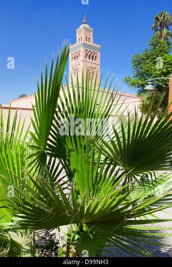 Historical Koutoubia mosque in Marrakesh. - Stock Image