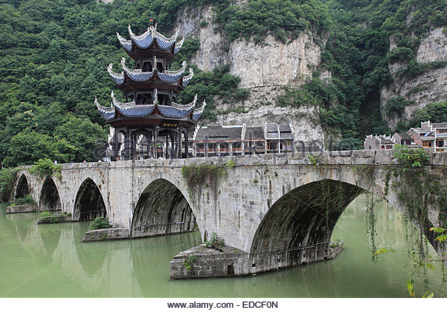 Zhenyuan (Guizhou) China  City pictures : Zhusheng Bridge, Zhenyuan, Guizhou, China Stock Image