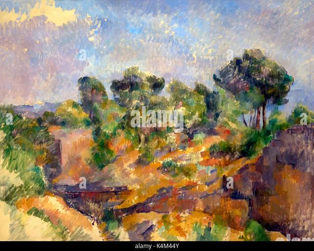 Bibemus, by Paul Cezanne, circa 1894-1895, Solomon R. Guggenheim Museum, Manhattan, New York City, USA, North America - Stock Image