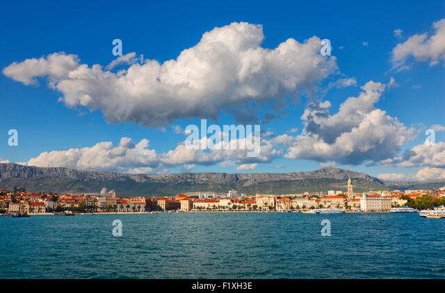 Skyline of Split, Dalmatia, Croatia. - Stock-Bilder
