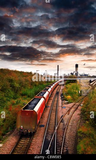 coal train - Stock Image