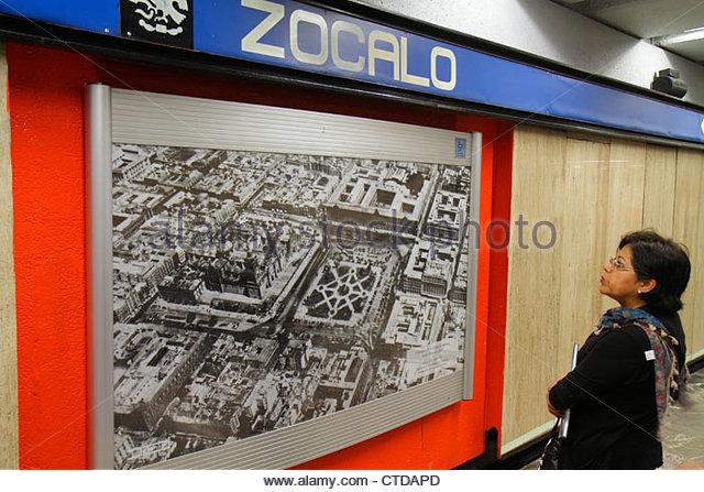 Mexico Mexico City DF D.F. Ciudad de México Federal District Distrito Federal Mexico City Metro subway Zocalo - Stock Image
