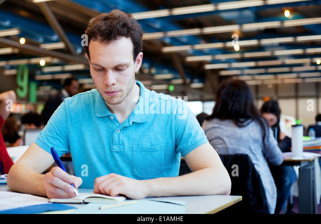student at university - Stock Image