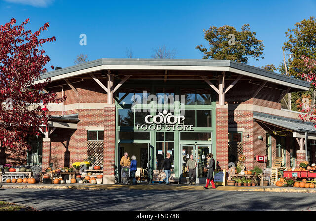 Coop, Food Store, Lebanon, New Hampshire, USA - Stock Image