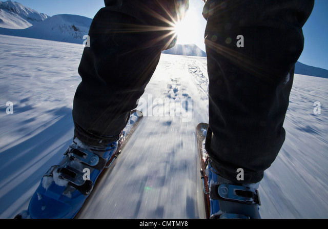 Ride touring skates in sunshine - Stock Image