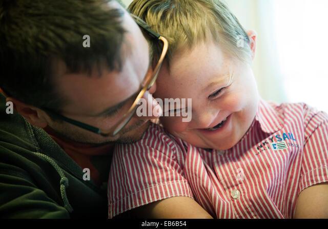 CHILD, DOWN'S SYNDROME - Stock-Bilder