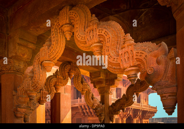 Fatehpur Sikri is a city and a municipal board in Agra district in the state of Uttar Pradesh, India - Stock-Bilder