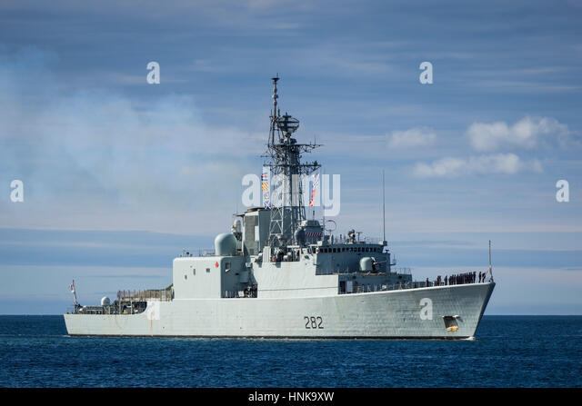HMCS ATHABASKAN is an IROQUOIS class destroyer that served in the Royal Canadian Navy from 1972-2017. - Stock Image