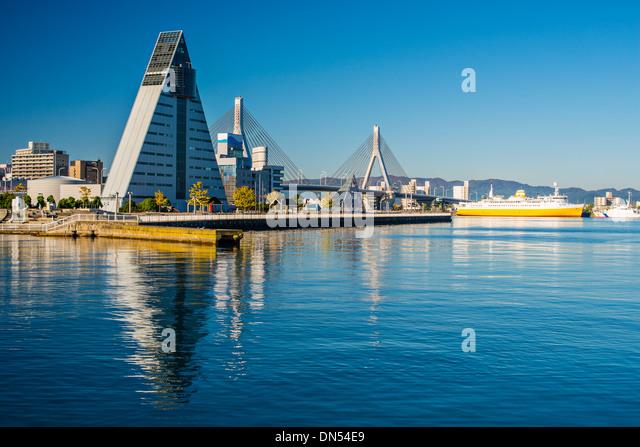 Downtown Aomori, Japan. - Stock-Bilder