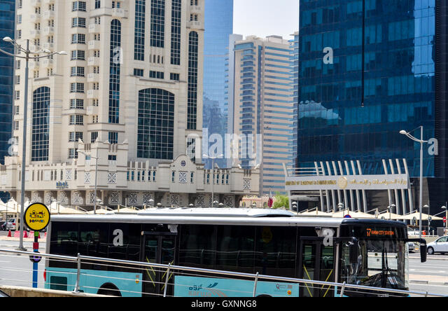 Bus in Doha, Qatar - Stock Image