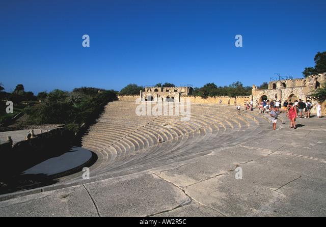 Dominican Republic Altos de Chavon Casa de Campo classical Amphitheater - Stock Image