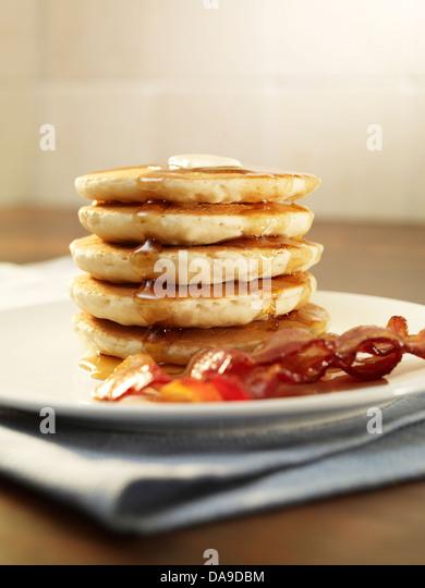 Breakfast pancakes - Stock Image