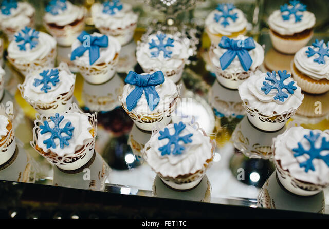 Candy bar on wedding ceremony - Stock Image