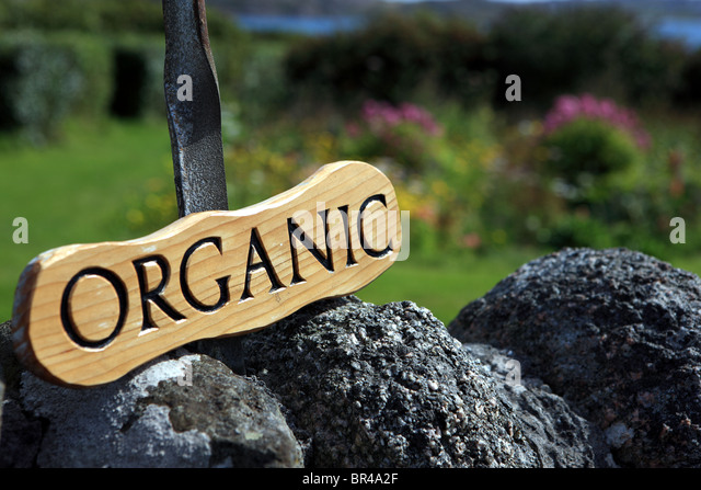 Organic sign - Stock Image