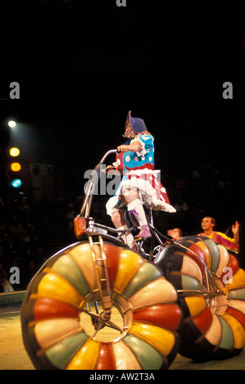 Moscow Clowns performing in Moscow Circus - Stock Image