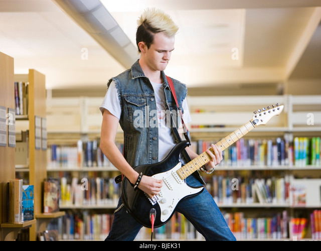 in the library - Stock Image