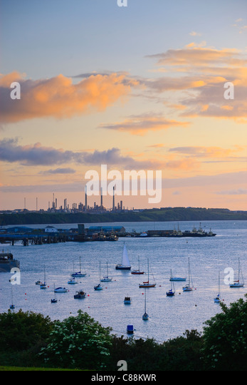 Haven Waterway Pembroke Dock Pembrokeshire Wales - Stock Image