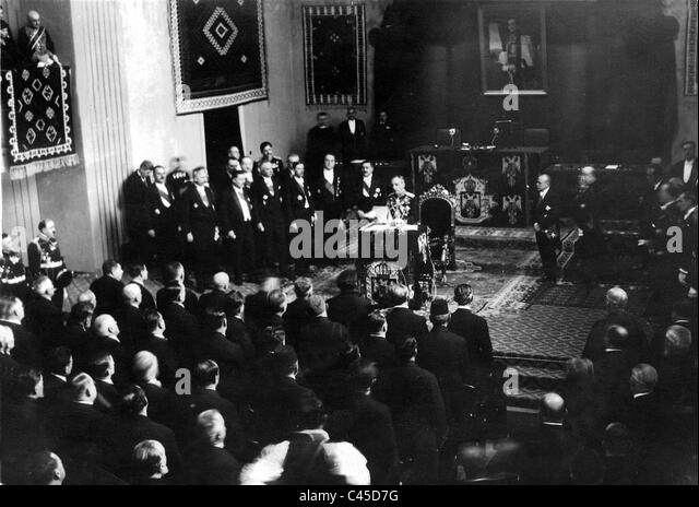 Kingdom of Yugoslavia 3/10/1929 - Stock Image