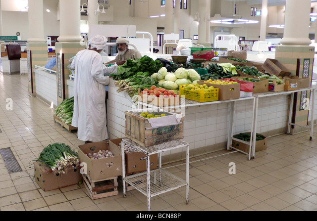 oman vegetable market nizwa - Stock Image