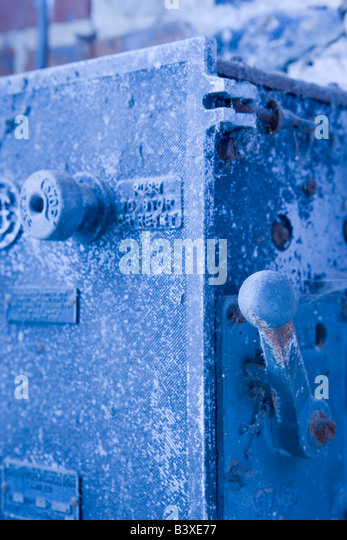 Old Fashioned Decayed Meter Box - Stock Image