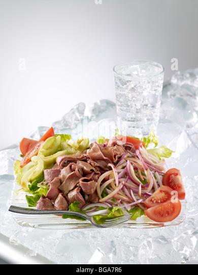 Thai beef salad - Stock Image