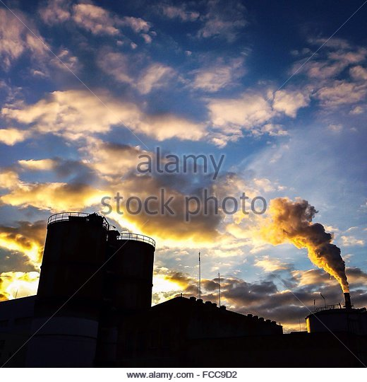 Low Angle View Of Industry - Stock Image