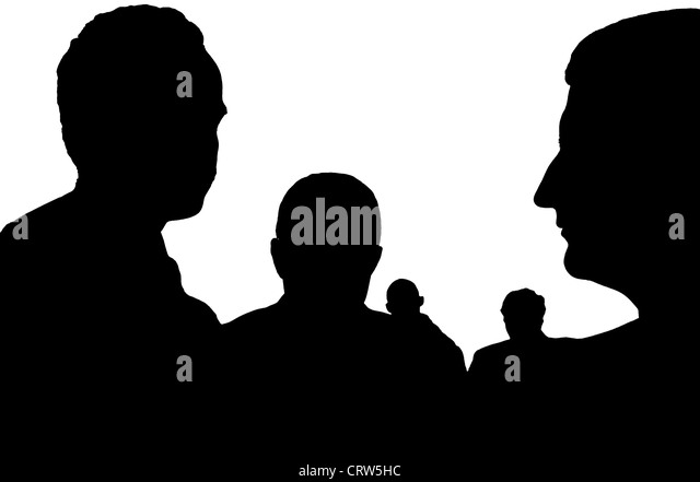 incognito persons - Stock Image