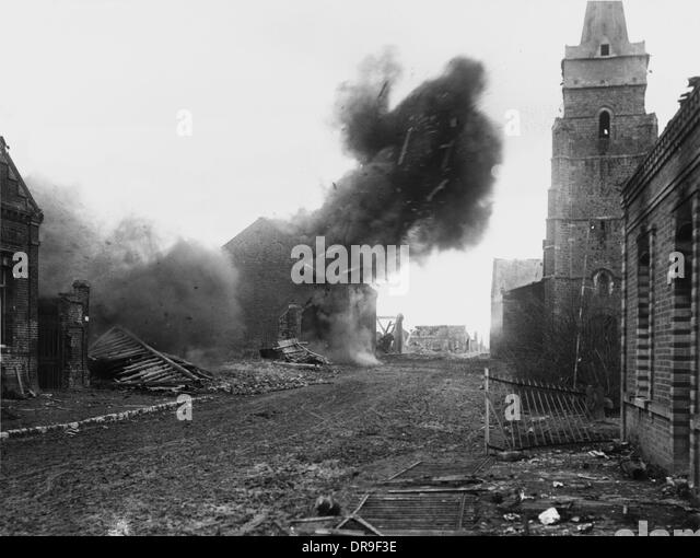 Explosion 1917 - Stock Image
