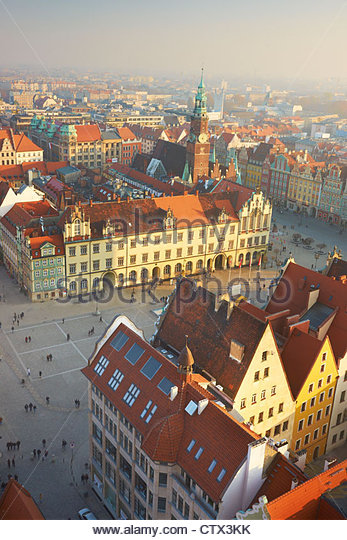 The Market Square, Wroclaw, Poland, Europe - Stock Image