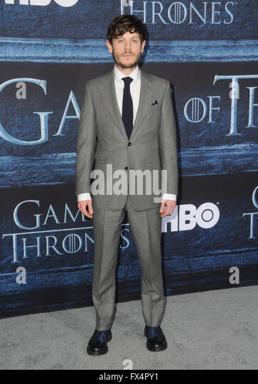 Hollywood, CA, USA. 10th Apr, 2016. Iwan Rheon. Arrivals for the Premiere Of HBO's ''Game Of Thrones'' - Stock Image