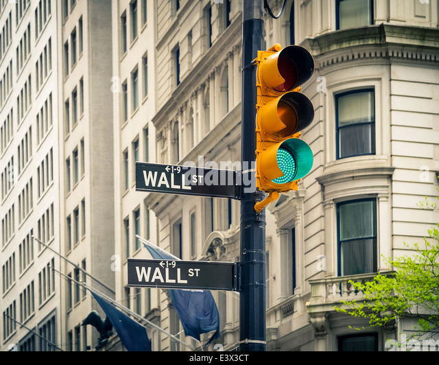 Wall street, New York - Stock Image