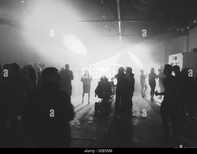 nightclub black white