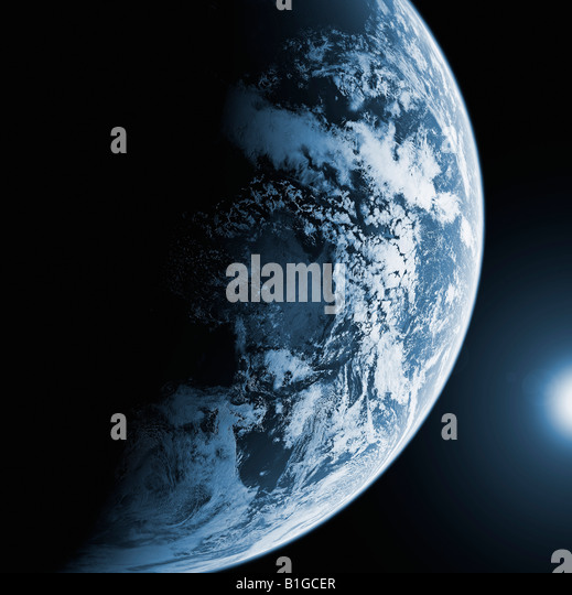 Satellite Image of The Earth from Space - Stock Image