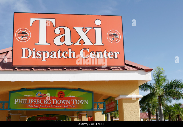 Sint Maarten Philipsburg Dutch Taxi Dispatch Center - Stock Image