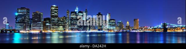 Lower Manhattan skyline in New York City. - Stock Image