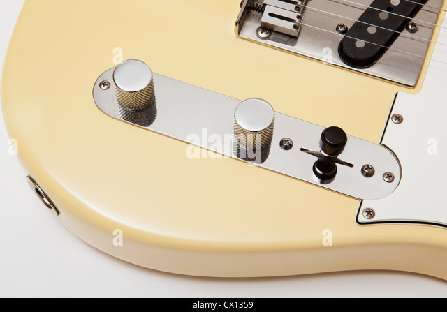 Detail of an electric guitar - Stock Image