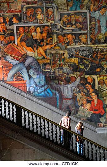 Mexico Mexico City DF D.F. Ciudad de México Federal District Distrito Federal Centro Historico Zocalo Plaza - Stock Image