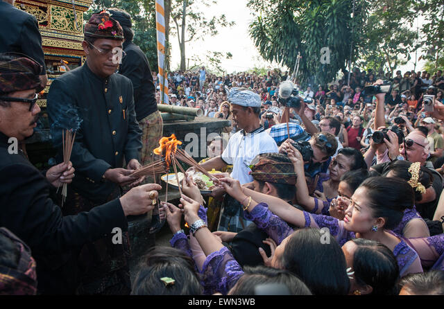 Funeral ceremony for Tjokorda Putra Dharma Yudha at Ubud, Bali, Indonesia, 28/7/2012. - Stock Image