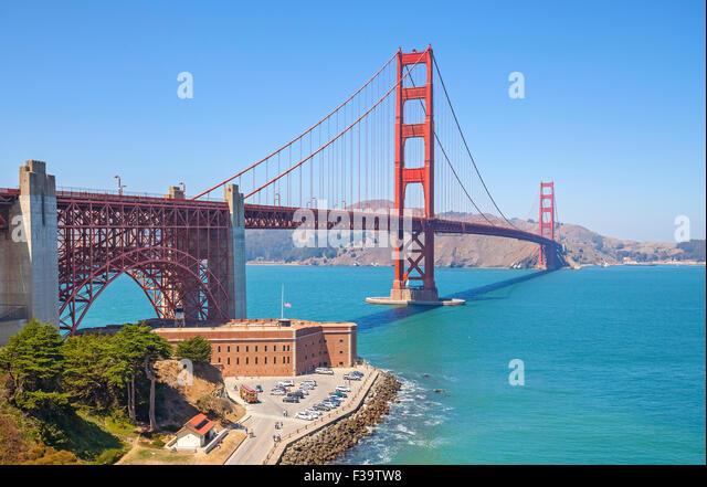 Golden Gate Bridge in San Francisco, USA. - Stock Image