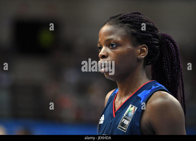 Olivia Epoupa of France in action during the FIBA Women's European Basketball Championship final match Spain - Stock-Bilder