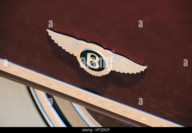 Bentley R type Continental 1954. Artist: Simon Clay. - Stock Image