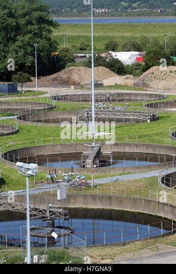 Waste Water Treatment Works - Stock Image