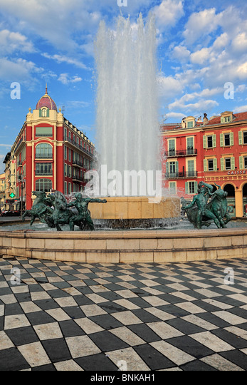 Place Massena in downtown Nice on the French Riviera (Cote d'Azur) - Stock-Bilder