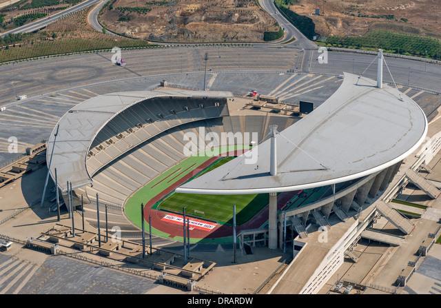 Ataturk Olympic Stadium located in Ikitelli. The stadium is named after Mustafa Kemal Ataturk Istanbul Turkey - Stock Image