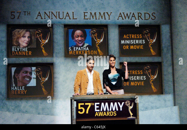 Michael Imperioli, Jami Gertz at the press conference for 57th Annual Primetime Emmy Awards Nominations Announcement, - Stock-Bilder